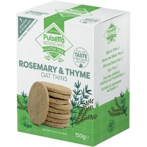 Pulsetta Rosemary & Thyme Oat Thins (150g)