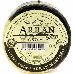 Island Cheese Company Waxed Truckle of Cheddar Cheese with Arran Mustard (200g)