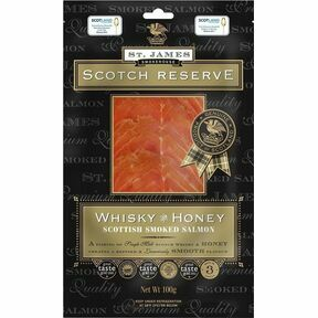St James Smokehouse Scotch Reserve Whisky & Honey Scottish Smoked Salmon (100g)