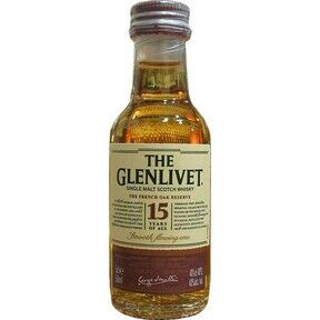 Glenlivet 15 Year Old French Oak Scotch Whisky Miniature (5cl)