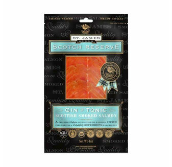 St James Smokehouse Scotch Reserve Gin & Tonic Scottish Smoked Salmon (100g)