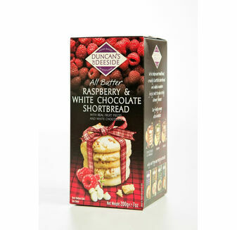 Duncan's of Deeside Raspberry & White Chocolate Shortbread (200g)