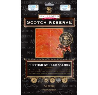 St James Smokehouse Scotch Reserve® Scottish Smoked Salmon (200g)
