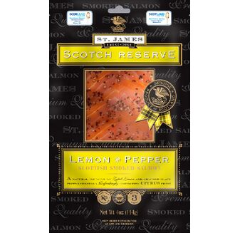 St James Scotch Reserve Smoked Salmon with Lemon & Pepper