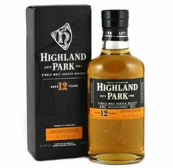 The Highland Park Distillery 12 Year Old Single Malt Whisky 35cl