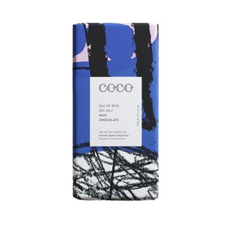 Coco Chocolatier Isle of Skye Sea Salt Milk Chocolate Bar (80g)
