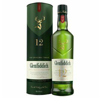 Glenfiddich 12 Year Old Speyside Single Malt Scotch Whisky (70cl)