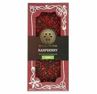 Chocolate Tree Raspberry Dark Chocolate Bar (100g)