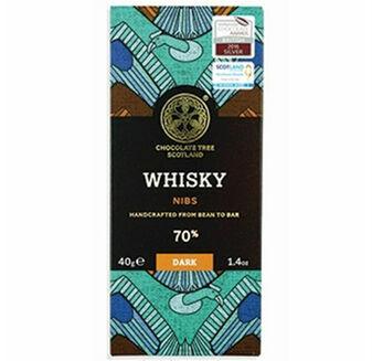 Chocolate Tree Whisky Nibs Chocolate Bar (40g)