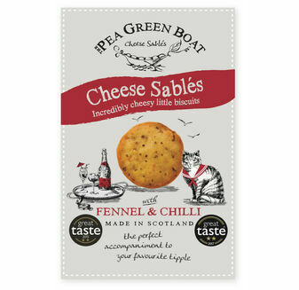 Pea Green Boat Cheese Sablés with Fennel & Chilli (80g)