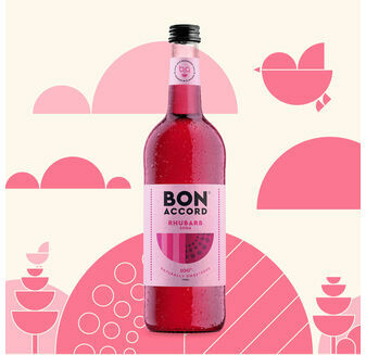 Bon Accord Rhubarb Soda (750ml)