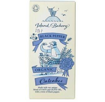 Island Bakery Black Pepper Organic Oatcakes (135g)