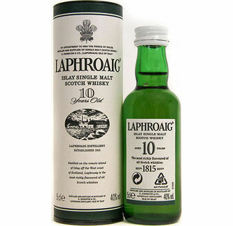 Laphroaig Distillery 10 Year Old Scotch Whisky Miniature (5cl)