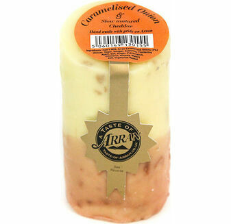 Arran Cheese Caramelised Onions Slow Matured Cheese Truckle 200g