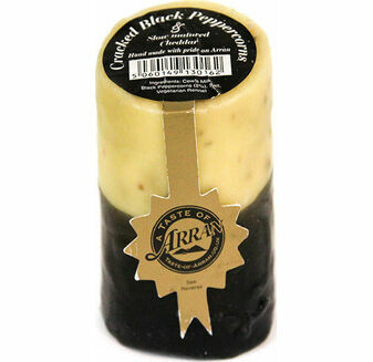 Arran Cheese Black Peppercorns Slow Matured Cheese Truckle 200g