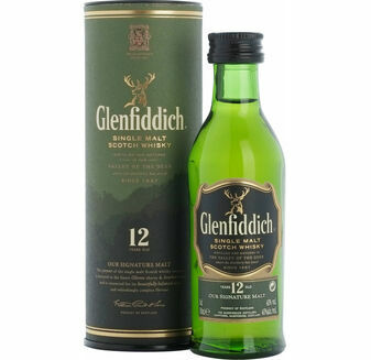 Glenfiddich 12 Year Old Whisky Miniature (5cl)
