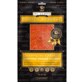 St James Smokehouse Scotch Reserve Champagne & Orange Smoked Salmon (100g)