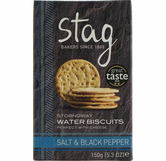 Stag Salt & Black Pepper Water Biscuits (150g)