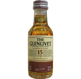 Glenlivet 15 Year Old French Oak Whisky Miniature 5cl