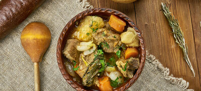 Slow,Cooked,Scottish,Beef,Stew,,Scottish,Cuisine,,Traditional,Assorted,Dishes,