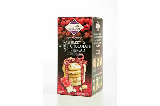 Duncan's of Deeside Raspberry & White Chocolate Shortbread (200g)