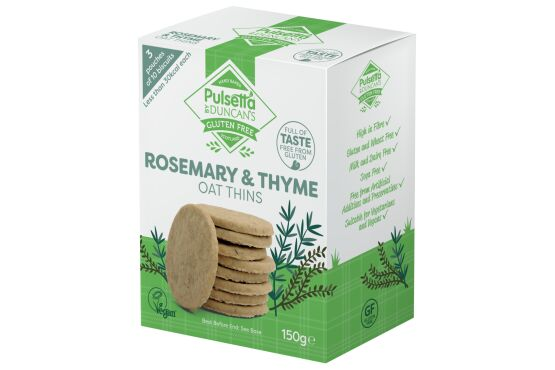 Pulsetta Rosemary & Thyme Oat Thins