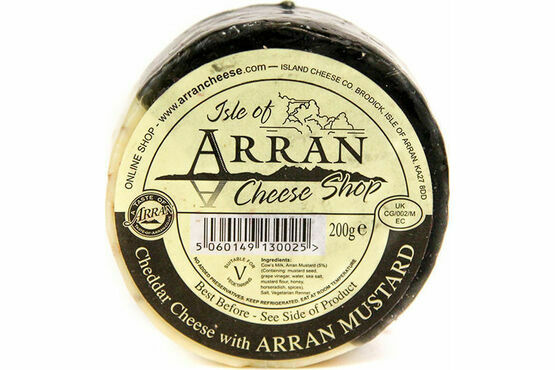 Island Cheese Company Waxed Truckle of Arran Mustard Cheese 200g
