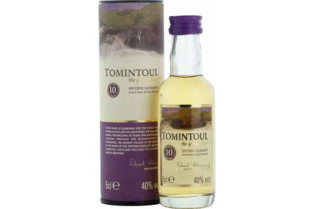 Tomintoul 10 Year Old Whisky miniature 5cl