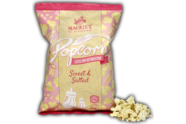 Mackie's of Scotland Sweet and Salted popcorn