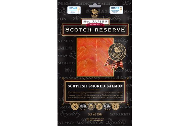 St James Smokehouse Scotch Reserve® Scottish Smoked Salmon (200g)