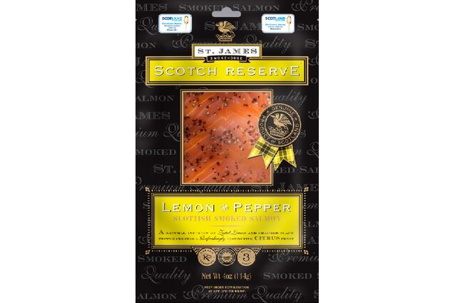 St James Smokehouse Scotch Reserve Lemon & Pepper Smoked Salmon (100g)
