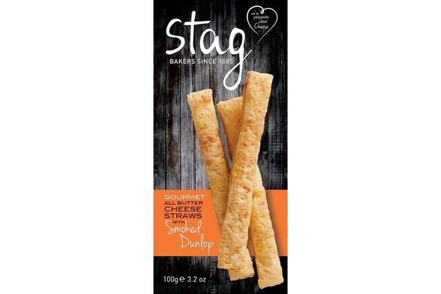 Stag Gourmet All Butter Cheese Straws with Smoked Dunlop (100g)