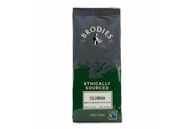 Brodies of Edinburgh Fairtrade Colombian Coffee (227g)