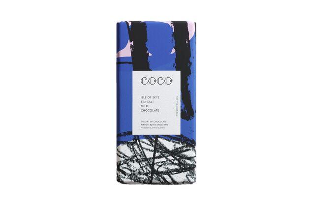 Coco Chocolatier Isle of Skye Sea Salt Milk Chocolate Bar (80g)