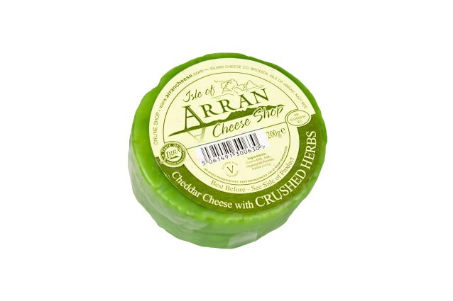 Island Cheese Company Waxed Truckle of Cheddar Cheese with Crushed Herbs (200g)