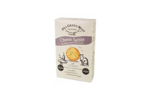Pea Green Boat Cheese Sablés with Cumin (80g)