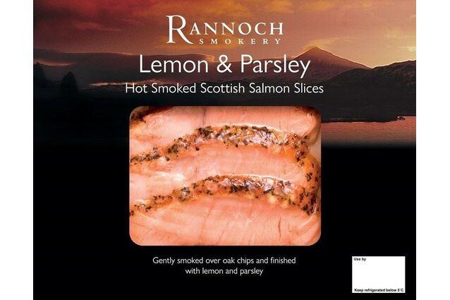 Rannoch Smokery Lemon & Parsley Hot Smoked Scottish Salmon Slices (80g)