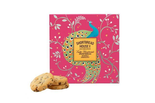 Shortbread House of Edinburgh Peacock Intensely Chocolatey Shortbread Box (240g)