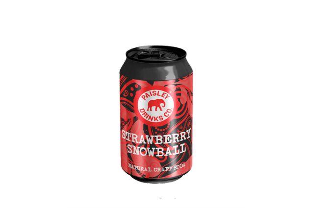 Paisley Drinks Co Strawberry Snowball Craft Soda (330ml)
