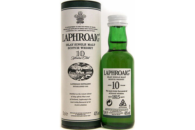 Laphroaig Distillery 10 Year Old Whisky Miniature (5cl)