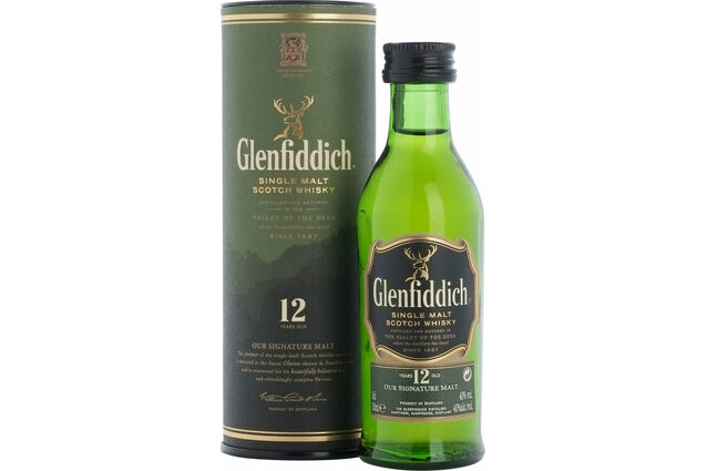Glenfiddich 12 Year Old Whisky miniature 5cl