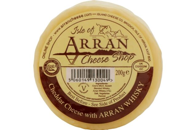 Island Cheese Company Waxed Truckle of Cheddar Cheese with Arran Whisky (200g)