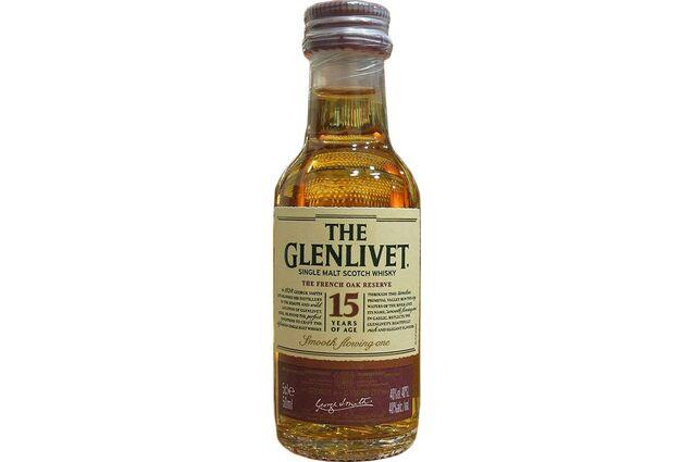 Glenlivet 15 Year Old French Oak Whisky Miniature 5cl